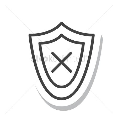 Check mark : Shield with cross icon