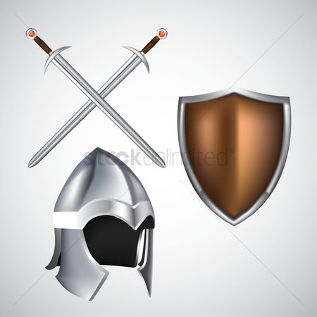 Shield : Shield with sword and helmet