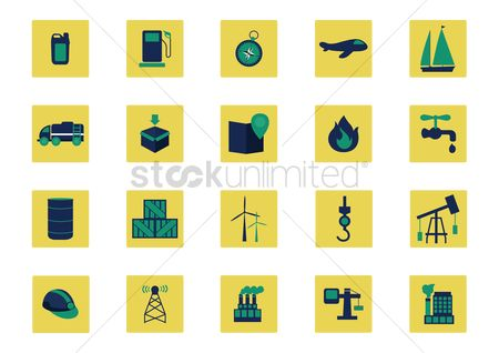 Petroleum : Shipment industry icons