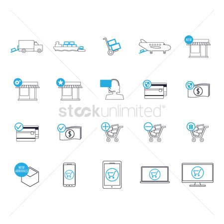 Online shopping : Shipping and logistic icons