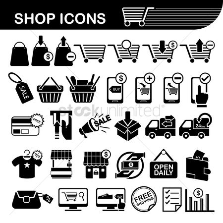 Trolley : Shop icons