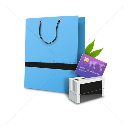Credits : Shopping bag with cash card