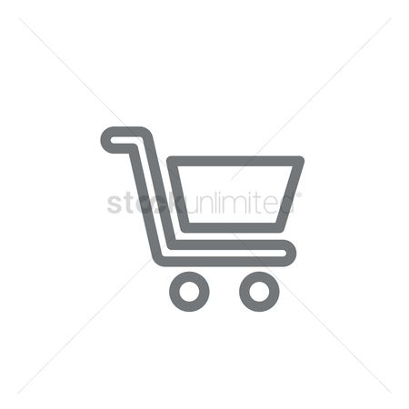 E commerces : Shopping cart symbol
