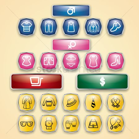 Cloth : Shopping icons set