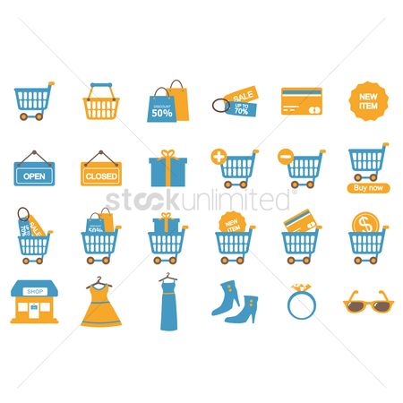 Open : Shopping icons