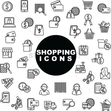 Machines : Shopping icons