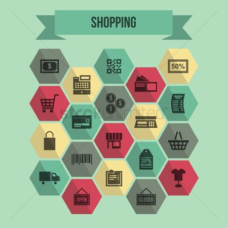 Online shopping : Shopping infographic elements