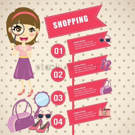 Retail : Shopping infographic
