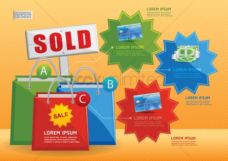 Sold : Shopping infographic