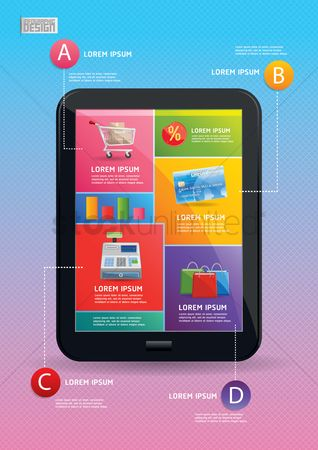 Trolley : Shopping infographic