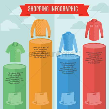 Pullover : Shopping infographic