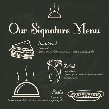 Signatures : Signature menu