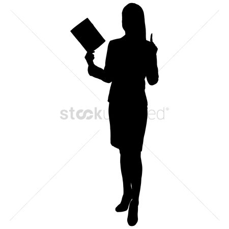 Teaching : Silhouette of a woman