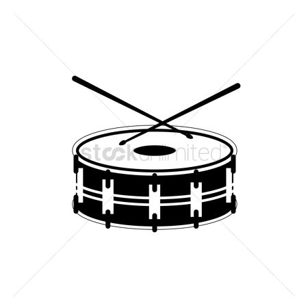 Percussions : Silhouette of bass drum