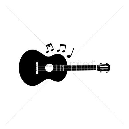 free guitar silhouette stock vectors stockunlimited