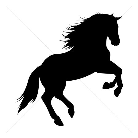 Cutout : Silhouette of horse