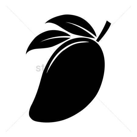Mangoes : Silhouette of mango