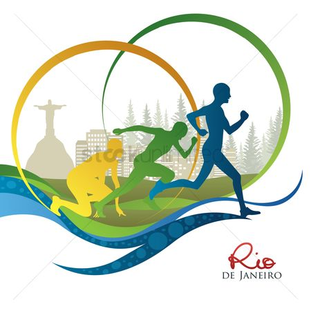 Athletes : Silhouette of people running
