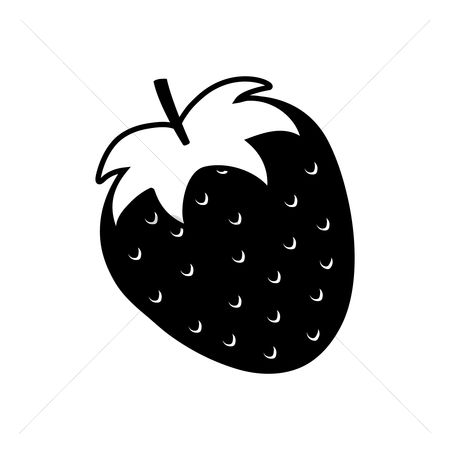 Cutout : Silhouette of strawberry