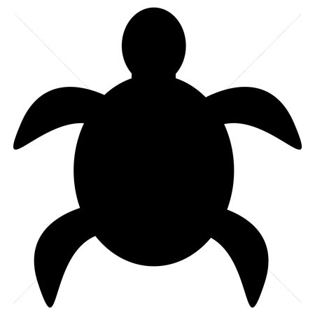 Cutout : Silhouette of turtle