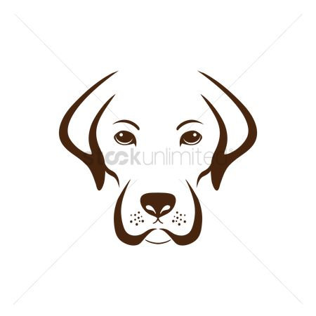Black background : Simple dog design