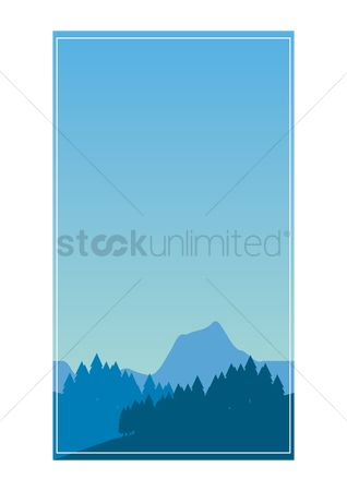 Sceneries : Simple scenic mountain background