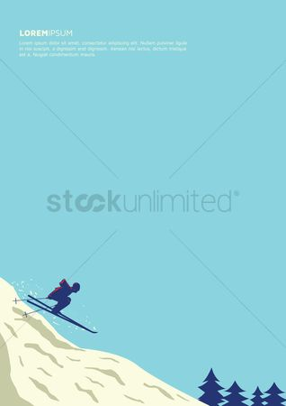 Skiing : Skiing poster design