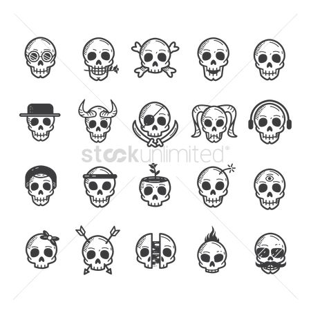 Devils : Skull icon set