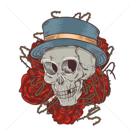 Hats : Skull tattoo design