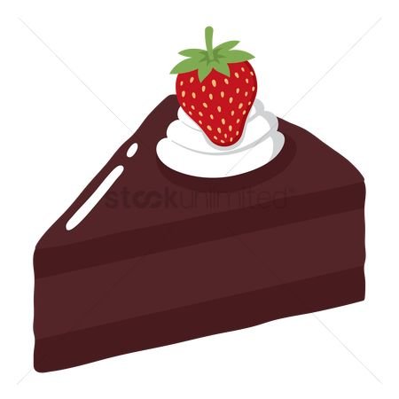 Popular : Slice of cake with strawberry on top