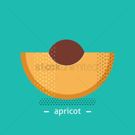 Apricot : Sliced apricot