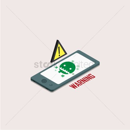 Warnings : Smartphone infected with virus