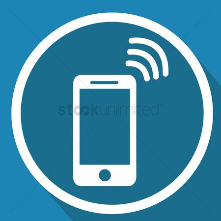 Routers : Smartphone with wifi signal