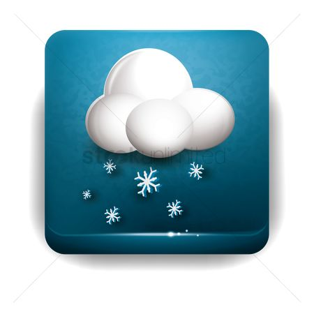 Temperatures : Snowflake and clouds