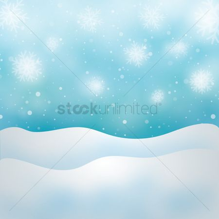 Sparkle : Snowflake background