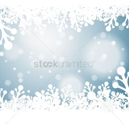 Season : Snowflakes background