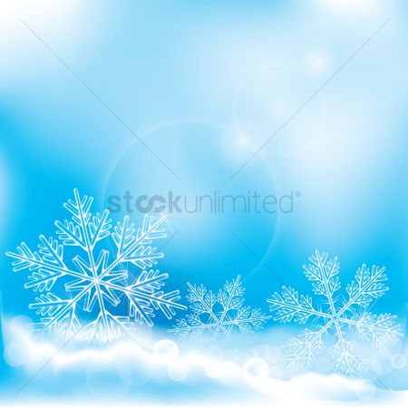 Graphic : Snowflakes background