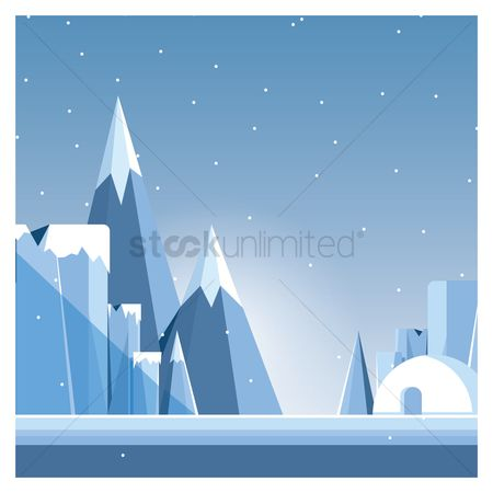 Mountains : Snowy mountains