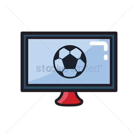 Broadcasting : Soccer match on television