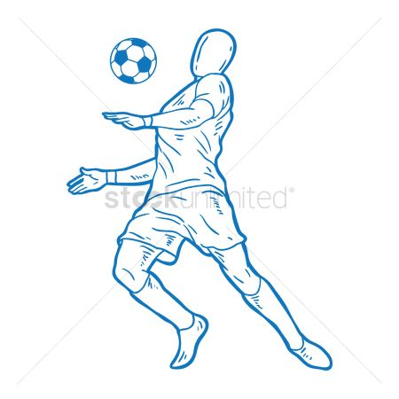 Soccer : Soccer player with chest trap pose