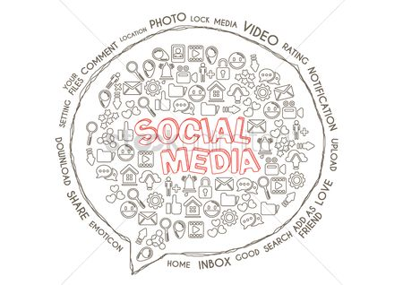Notification : Social media concept