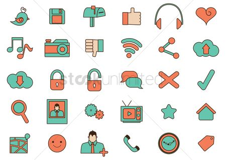 Favourites : Social media icons set