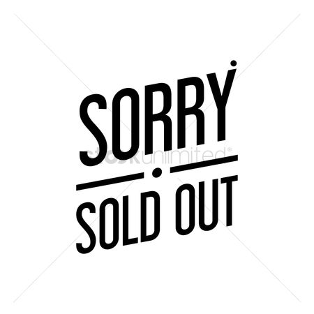 Sold : Sorry sold out text