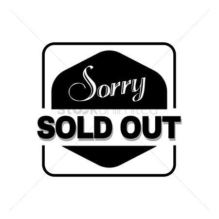 Insignias : Sorry sold out text