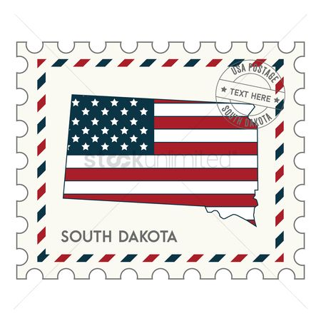 Dakota : South dakota postage stamp