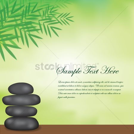 Zen : Spa background with basalt stones