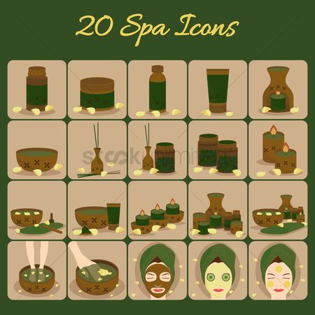 Oil : Spa icons