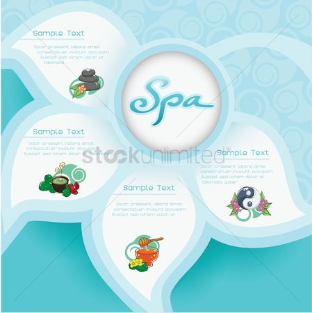 Sample text : Spa infographic