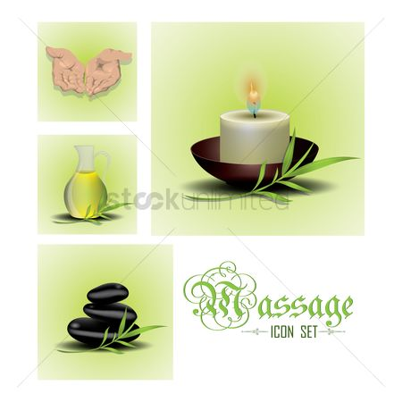 Jar : Spa massage icon set