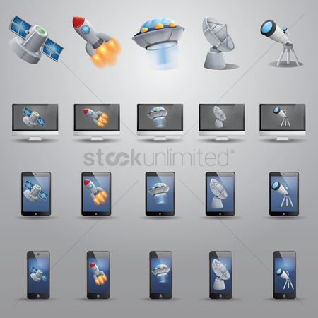Spaceship : Space icons